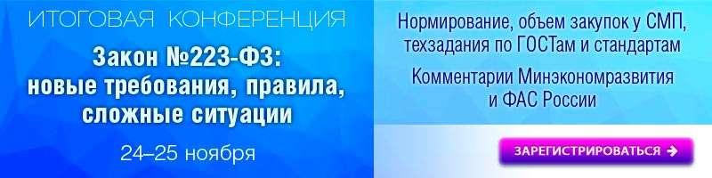 Закон №223-ФЗ: практика, комментарии, проекты новых изменений